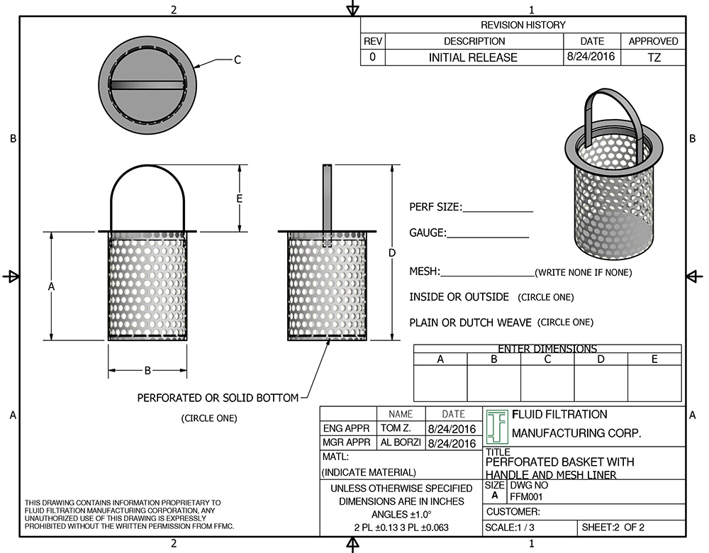 replacement strainer baskets screens filter bag baskets slanted baskets - Strainer Basket